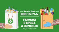 Il nuovo numero verde 800 117 744 per la consegna di farmaci e spesa a domicilio
