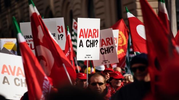 Manifestazione nazionale #FuturoalLavoro a Roma, 9 febbraio 2019.